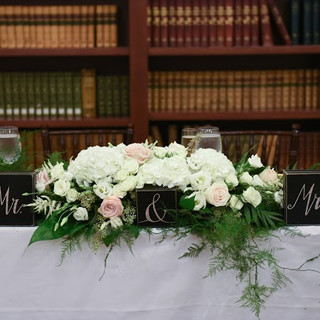 Providence Public Library Sweetheart Table