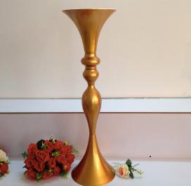Gold Pedestal Centerpiece