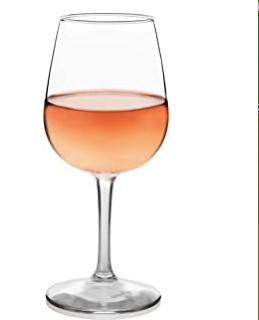 White or Rose Wine Glassware Rentals