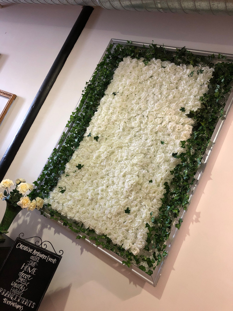Flower Wall Hedge Backdrop