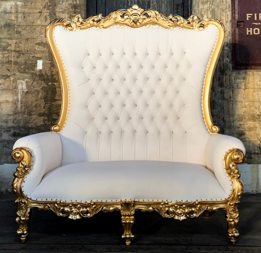 Double throne chair