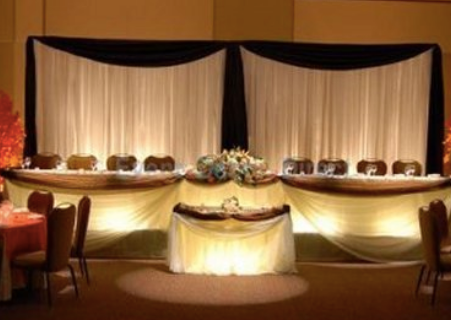 Lit up Sweetheart Tables