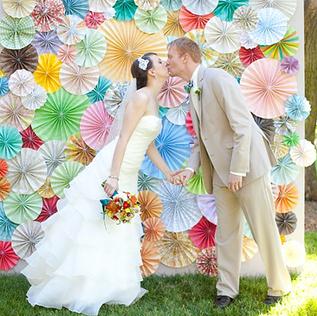Paper Pinwheel Wall
