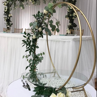 Gold Circle Cake Stand for large cakes RENTAL