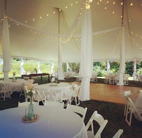 Tent Draping and Lighting