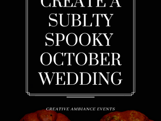 How to Create a Subtly Spooky October Wedding