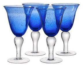 Cobalt Water Goblets