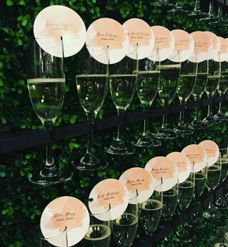 Champagne Wall Seating Chart