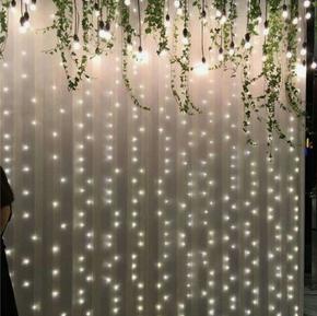 Twinkle Light Curtain Backdrop