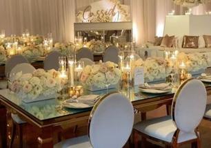 Mirror Centerpiece Vases