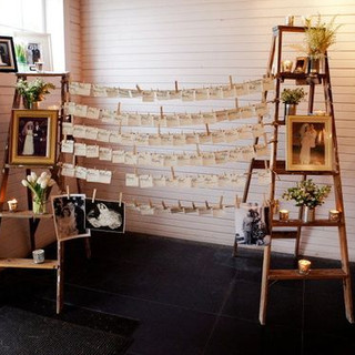 Rustic Ladders for Place Cards