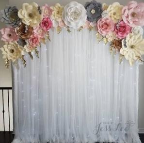 Paper Flower Arch Backdrop