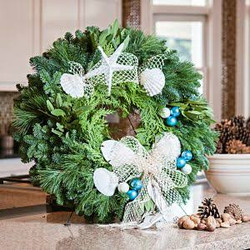 beach theme real wreath $65