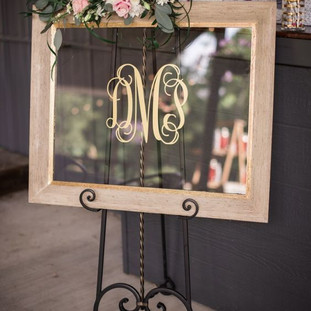 Gold Framed Mirrored Sign