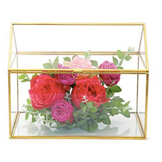 Gold Glass Card Box RENTAL