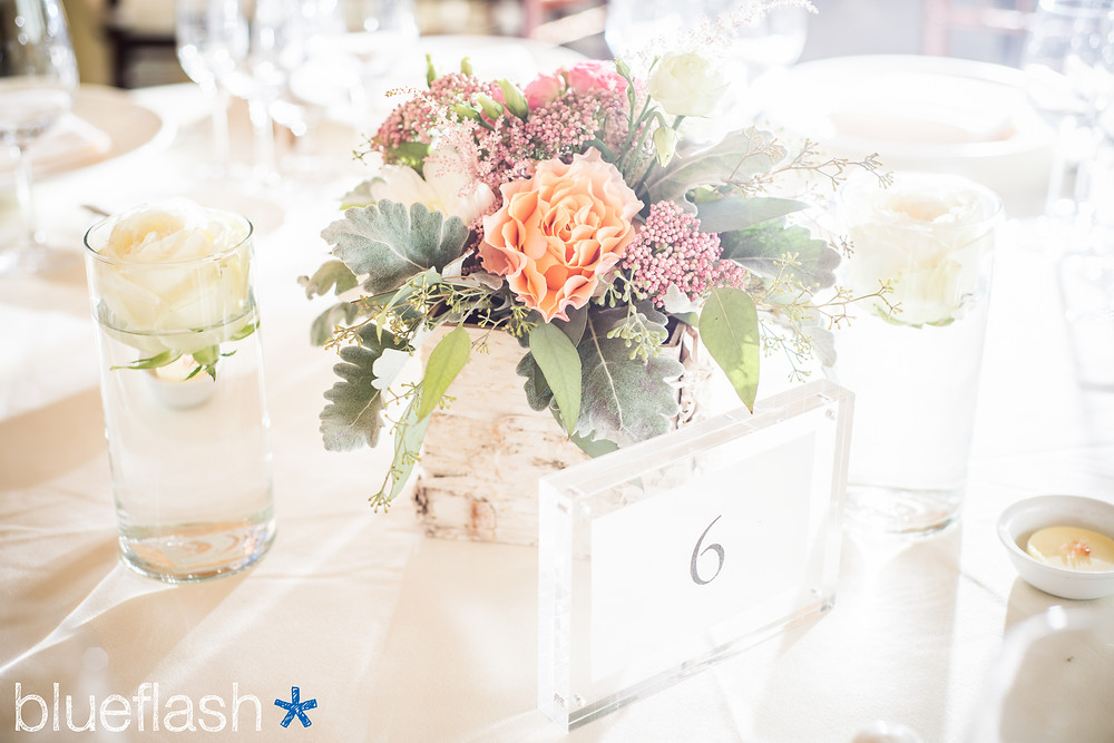 One of the centerpieces from Jeanette and Josh`s reception