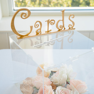 Clear Card Box with floral RENTAL