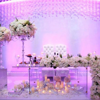 Glass Sweetheart Table RENTAL