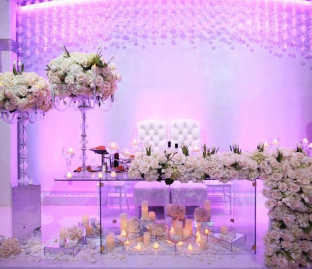 Romantic Clear Sweetheart Table