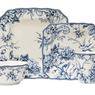 Blue & White Square Tableware