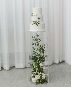 Clear Acrylic Cake Pedestal Rental