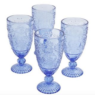 Light Blue Colored Goblet Rental