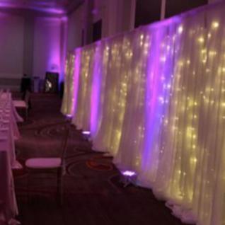 Uplight Twinkle light & sheer backdrop r
