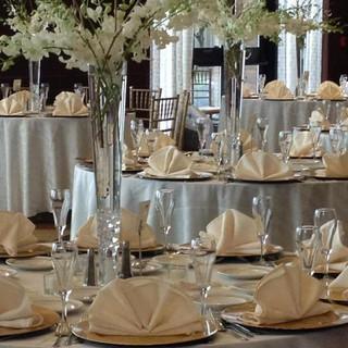 Trumpet Vase and White Orchid Centerpiec