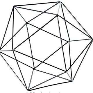 Geometric Back Frame Centerpiece Rentals