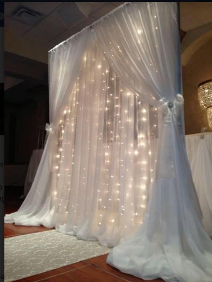 Twinkle Light Backdrop Arbor RENTAL