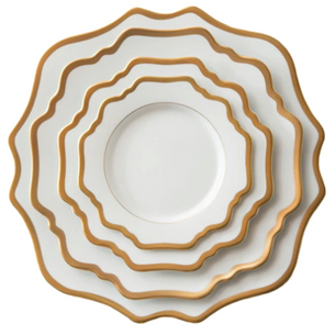 White and Gold China Rental