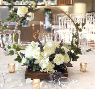 Gold Ring Centerpieces