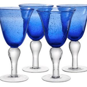 Cobalt Blue Colored Glassware Rentals