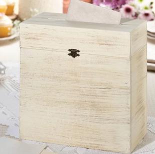 Whitewash Card Box Rental