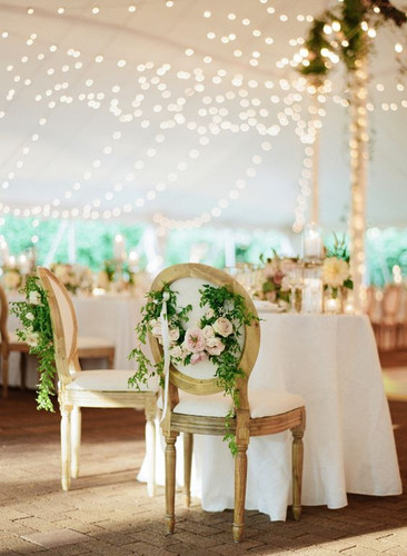french chairs rental sweetheart table