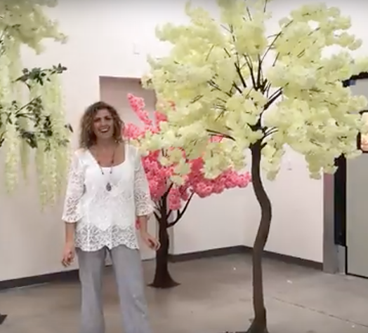 Tall Floral Trees
