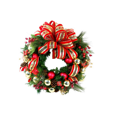 red wreath $65