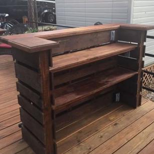 Rustic Wood Bar Rental