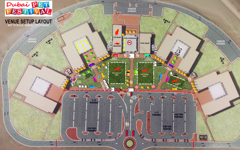 PET FESTIVAL 2020 AL WARSAN SETUP LAYOUT