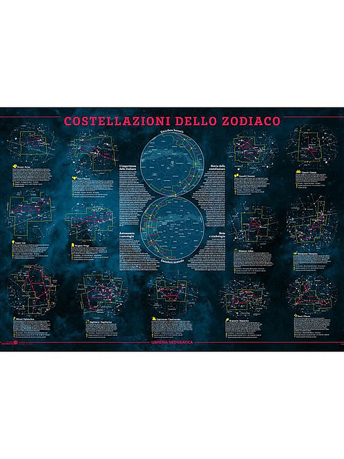 Costellazioni dello zodiaco geoposter
