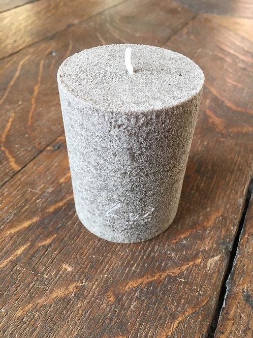 Kaars Taupe velours cilinder XS