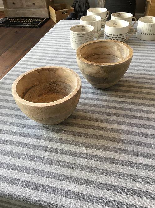 Tafellaken gestreept grijs/beige