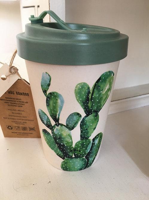 Travel mug cactus