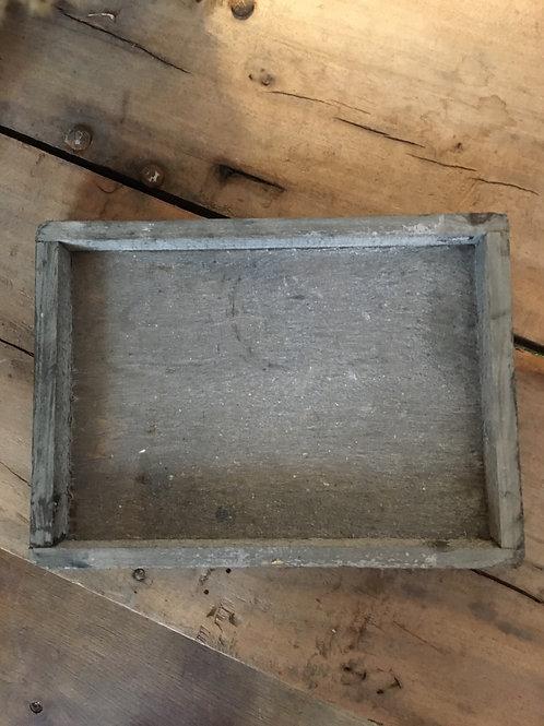 Houten onderzetter grijs rechth. Afgerond