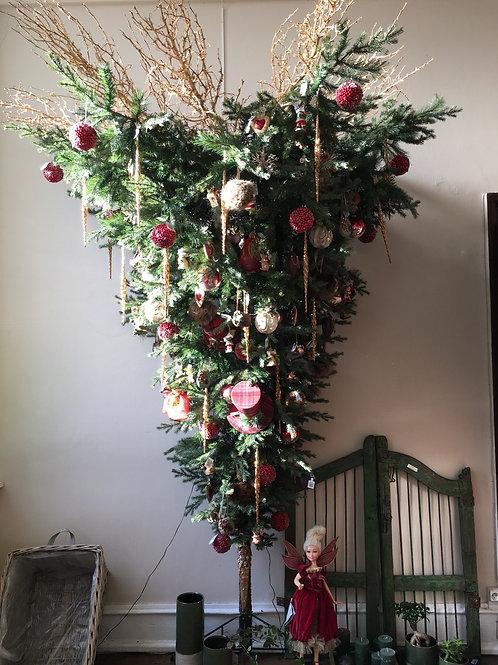 Halve omgekeerde kerstboom