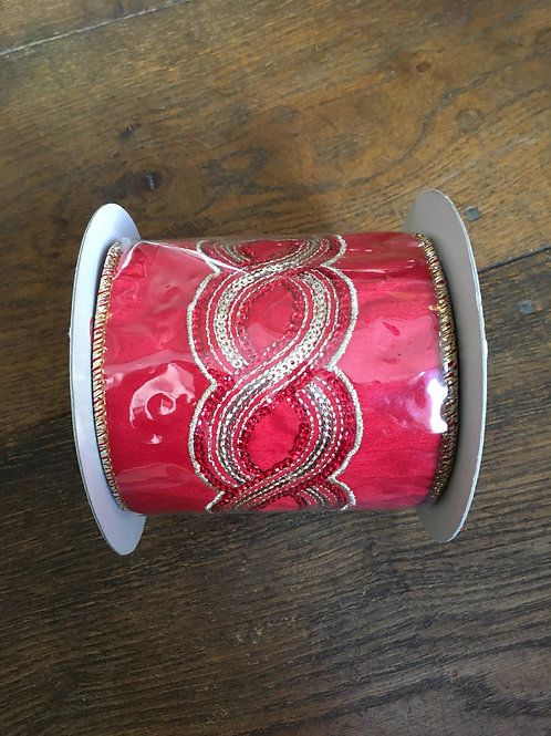 Ribbon twist swirl red