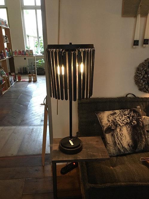 Lamp GULAG hout zwart