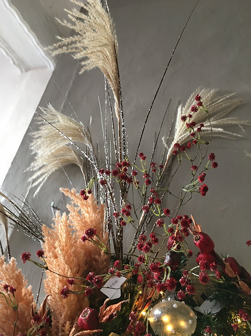 Fluffy Reed grass stem