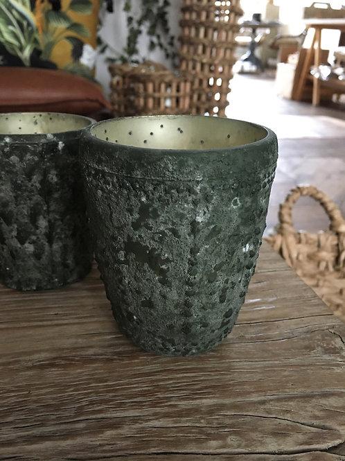 Theelicht Zorogo antiek groen