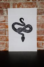 Snake Linocut